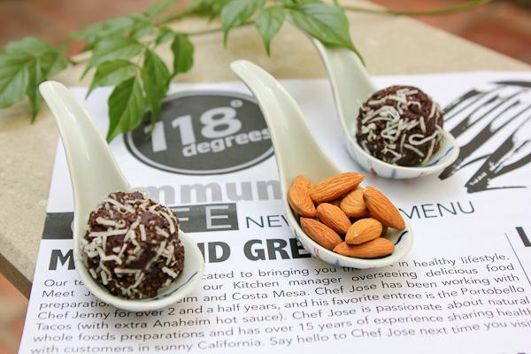 Cacao Truffles, raw vegan truffles, 118 Degrees