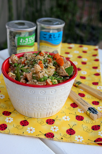Vegetable Pork Fried Rice | ShesCookin.com