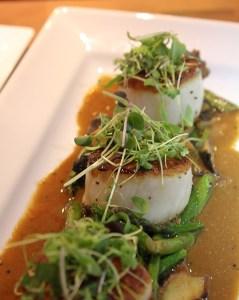 Seared scallops, Back Bay Tavern, Whole Foods Newport Beach