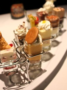 Seasons 52 Mini Indulgences, shot glass desserts