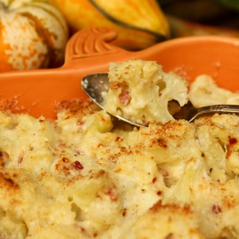 Cauliflower Gratin, Thanksgiving