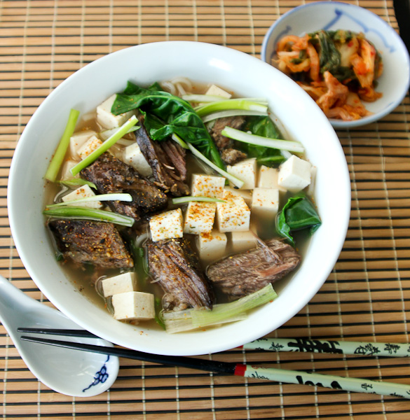 Double Duty Dinners: No-Soy Short Rib Udon   ShesCookin.com