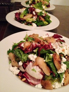 roasted pear salad, Pitfire Pizza