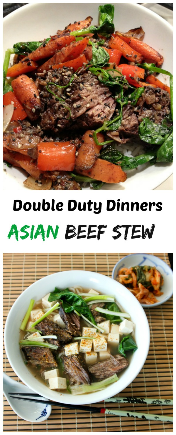 Asian Short Rib Beef Stew, Short Rib Noodle Soup with Greens
