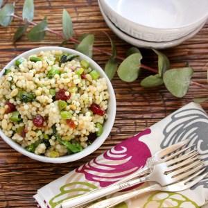 couscous salad, Gourmet Garden herbs, Gourmet Garden