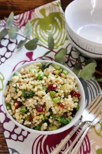 Couscous with Greens, Cranberries and Pine Nuts