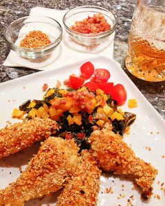 southern fried chicken wings, collard greens, healthy southern collard greens