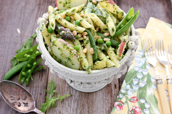 Potato with Arugula Pesto and Spring Vegetable Pasta-7185