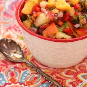 Peach and Nectarine Salsa