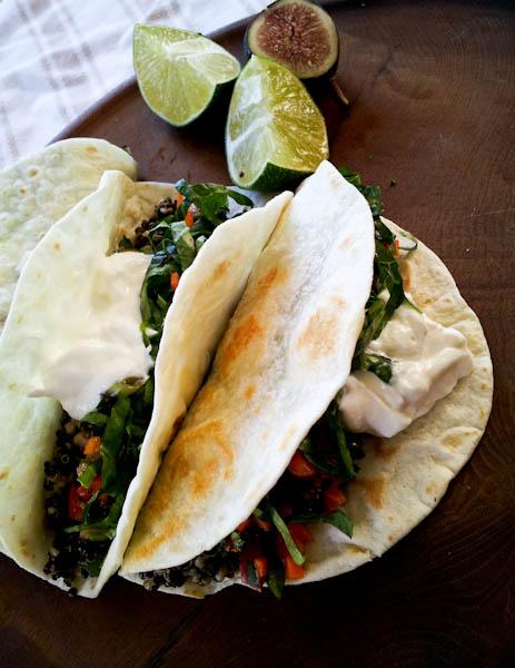 Quinoa Street Taco with Fresh Fig Salsa
