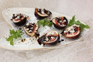 Figs with Feta and Balsamic