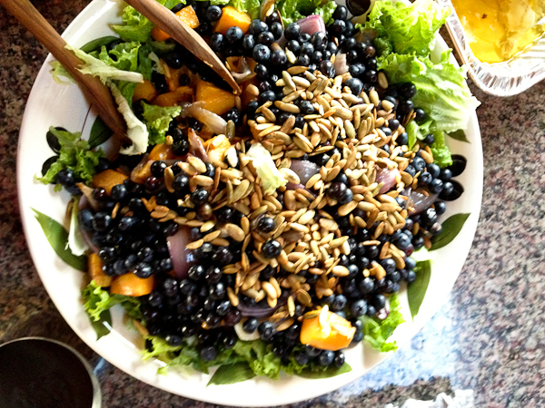 Butternut Squash Salad with Blueberry Balsamic Vinaigrette