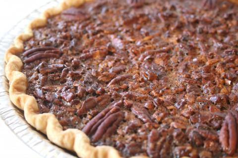 Coffee-Toffee Pecan Pie