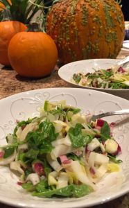 Apple, Walnut, Endive and Arugula Salad