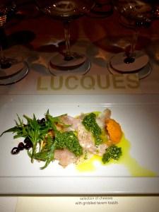 Chablis tasting dinner, Lucques