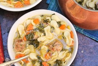 Keeping Warm With Italian Wedding Soup