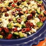 7-Layer Mediterranean Dip, spicy hummus
