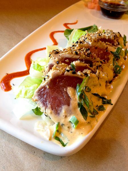 Seared Sesame Ahi Sashimi, Bonefish Grill