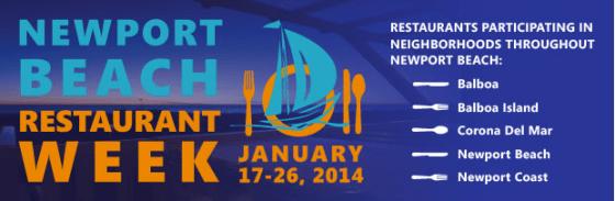 Newport Beach Restaurant Week 2014