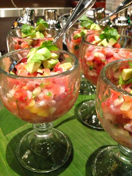 yellowtail ceviche, Solita's Tacos & Margaritas