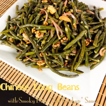 "Chinese Long Beans and Cashews with ""Not Ketchup"" Smoky Date Sauce"