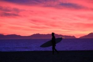 Huntington Beach, CA, beach sunset