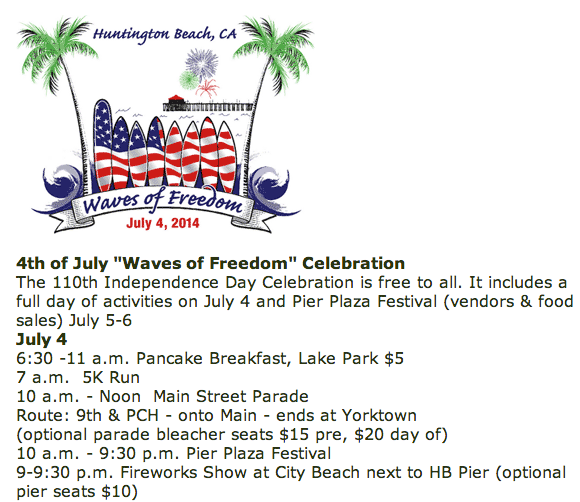 4th of July Parade and 5K Run, Huntington Beach, CA
