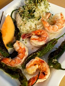 Shrimp and Shishito Peppers