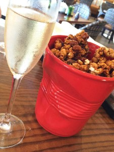 Popcorn + Pig - caramel popcorn, bacon and peanuts