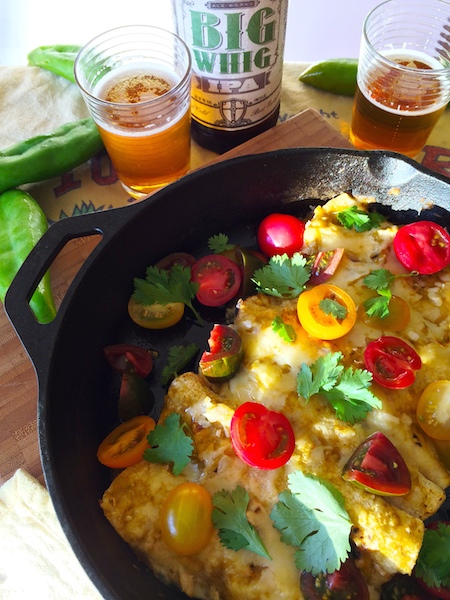 Chicken Enchiladas with Hatch Chile Sauce
