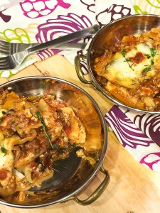 Slow Cooker Bison Lasagna
