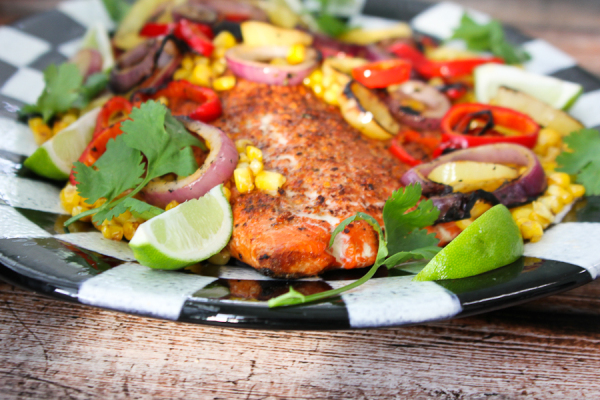Grilled Spice-rubbed Wild Salmon