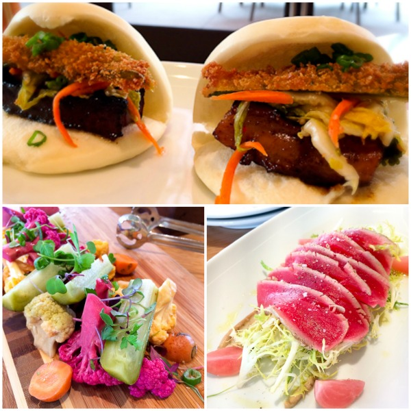 Pork Belly Buns, Pickled Vegetable Platter, Ceviche Shimi, EATS Kitchen & Bar