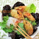 Baked Salmon Egg Rolls, Chinese New Year