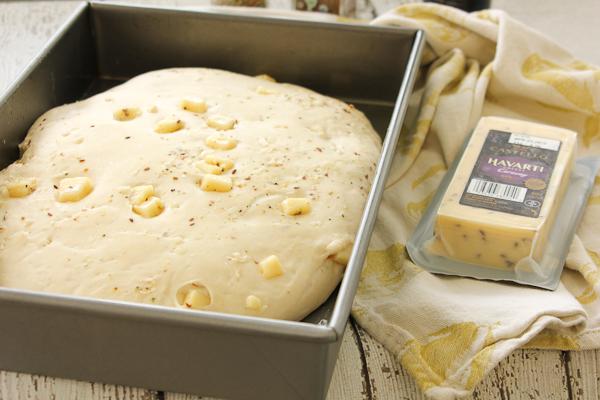 Cheesy Lemon Caraway Focaccia-