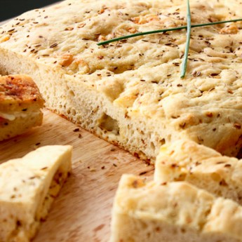 Get Creative with Castello: Cheesy Lemon Caraway Focaccia