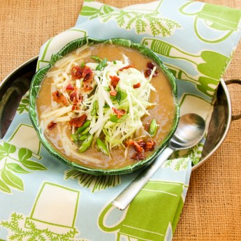 Irish Potato Cabbage Soup with Cheese + Bacon