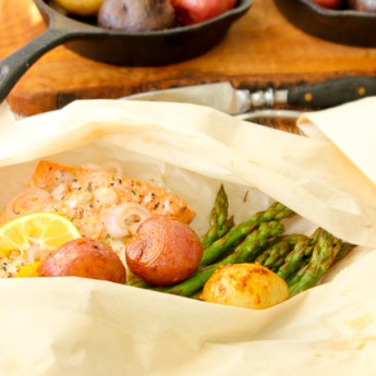 Salmon, Asparagus and Potato Hobos