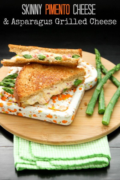 Skinny Pimento Cheese and Asparagus Grilled Cheese | She's ...