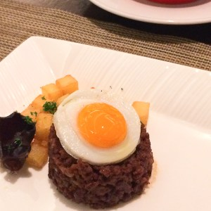 Minchi - traditional Macanese dish