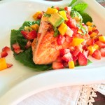 King Salmon with Limoncello Fruit Salsa