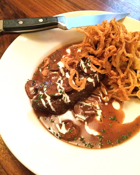 Prime Beef Short Rib Stroganoff, Del Frisco's Grille