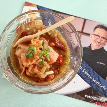 Salmon Chilly Chili by Chef Rick Moonen | ShesCookin.com