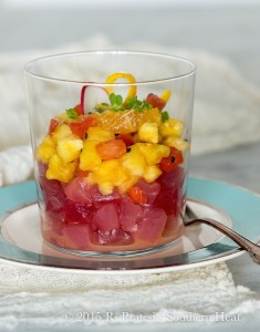 "Tuna ""Old Fashioned"" Ceviche - Southern Heat"