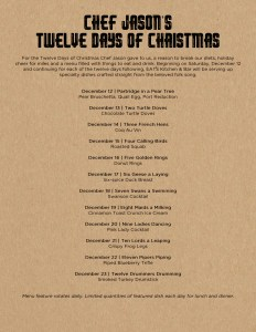 12 Days of Christmas at EATS