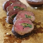 Stuffed Beef Tenderloin with Red Wine Sauce