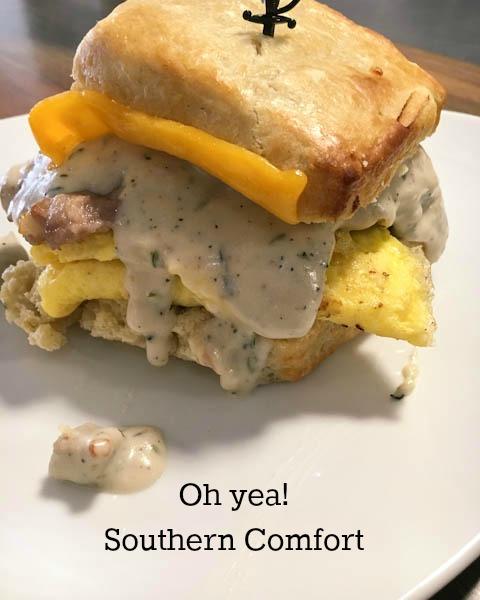 Southern Comfort Breakfast Biscuit Sandwich, ShesCookin.com-