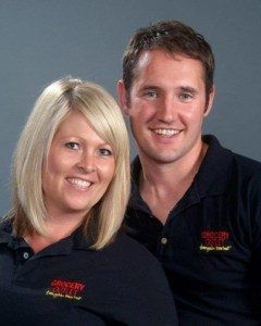 Jonathan and Jennifer Lawton, owners Grocery Outlet Long Beach