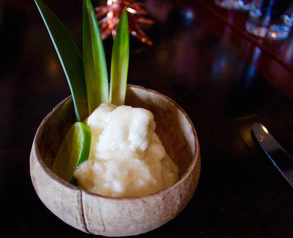 Lime in the Coconut liquid nitrogen cocktail | ShesCookin.com
