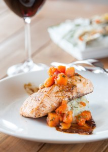 Seared Jerk Salmon with Coconut Rice | ShesCookin.com